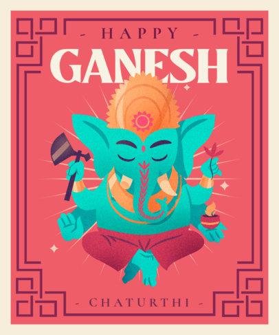 T-Shirt Design Template to Celebrate Ganesh Chaturthi 3948