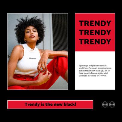 Trendy Instagram Post Maker for a Clothing Brand Carousel 4278e-el1