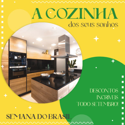 Semana do Brasil-Themed Instagram Post Design Maker for an Appliances Company 3936e