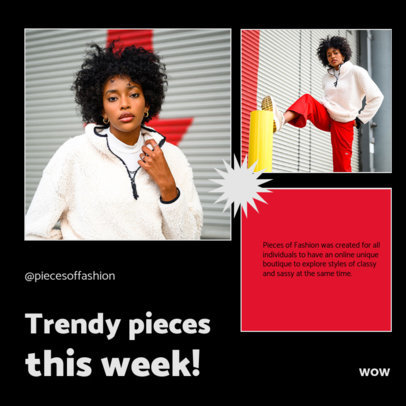 Trendy Instagram Post Maker for a Clothing Brand Ad Carousel 4279e-el1