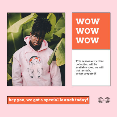 Minimalistic Instagram Post Generator for a Trendy Clothing Collection Ad 4278c-el1