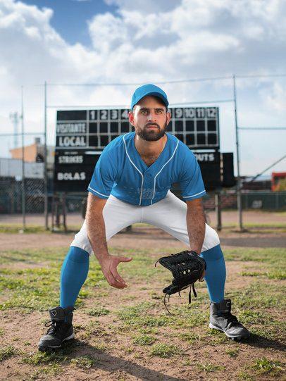 Baseball Uniform Builder - Man in the Center Field a16774