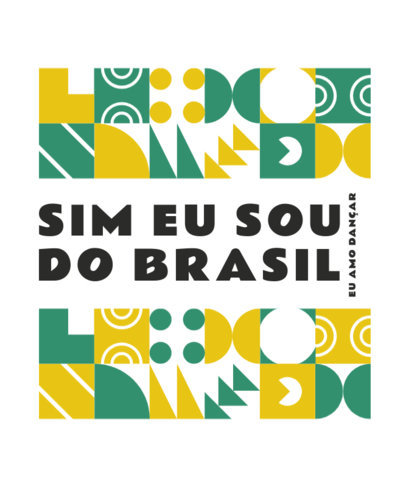 T-Shirt Design Creator Featuring a Quote in Portuguese and Geometric Graphics 3953h