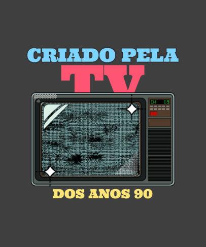 T-Shirt Design Generator with a 90's TV Illustration 3938i