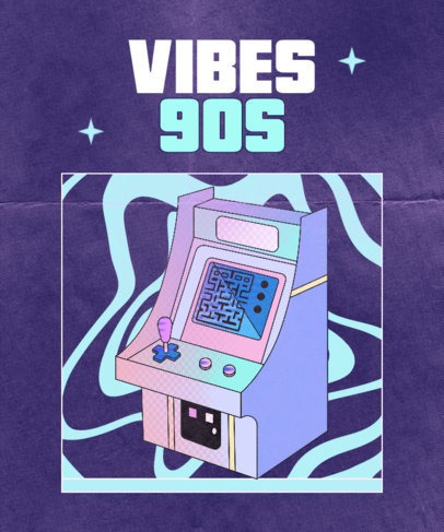 Retro T-Shirt Design Creator with a 90's Arcade Machine 3941f