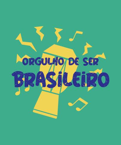 Patriotic T-Shirt Design Creator Featuring a Proudly Brazilian Quote 3954c