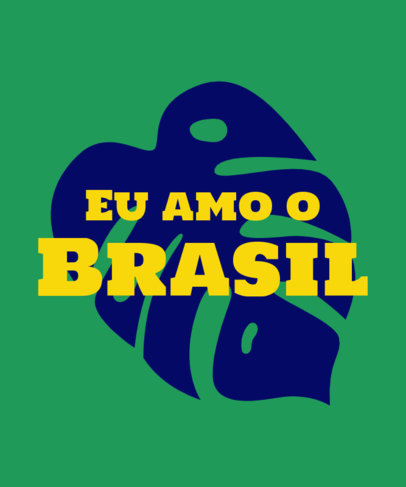T-Shirt Design Generator with an I Love Brazil Quote 3954g