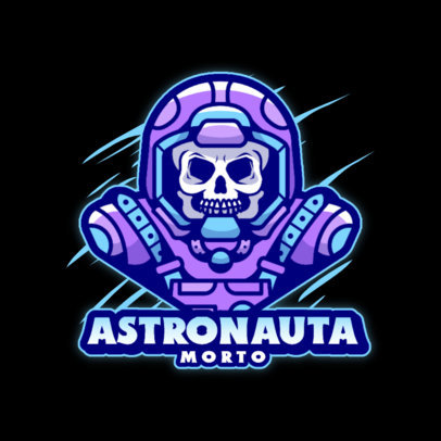 Horror-Themed Logo Generator for a Gaming Squad With an Astronaut Graphic 4562C