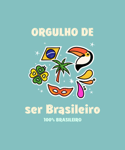 T-Shirt Design Maker with a Quote About Brazilian Pride 3951c