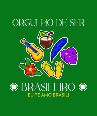 T-Shirt Design Maker with a Patriotic Brazilian Theme 3951g