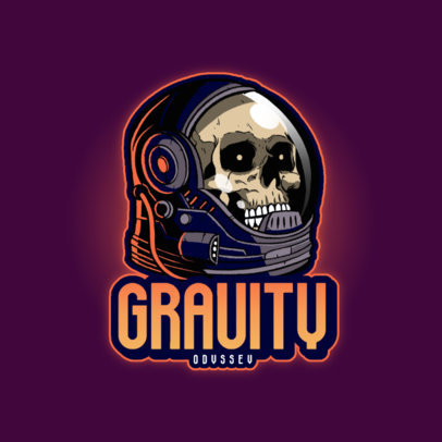 Gaming Logo Creator with a Space Theme for Horror Gamers 4563G