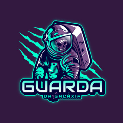 Gaming Logo Maker Featuring an Undead Astronaut 4564a