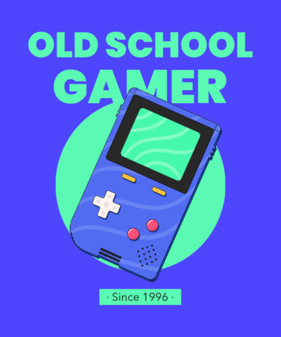 T-Shirt Design Generator with an Old School Portable Gaming Device 3937d