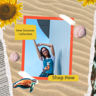 Instagram Post Video Generator With Summer-Themed Graphics 1810a 3883