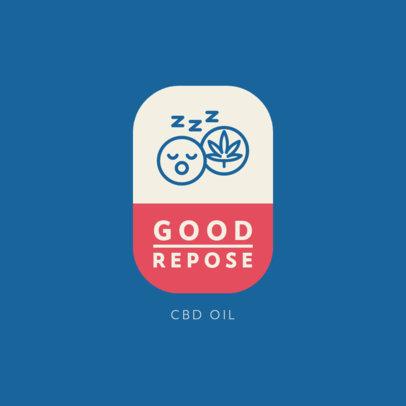 Logo Generator for a CBD Oil Shop 4308c-el1