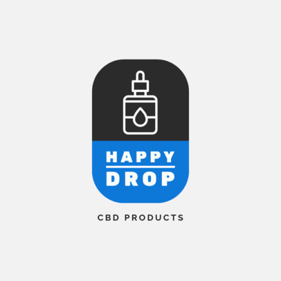 CBD Shop Logo Generator Featuring a Dropper Icon 4308d-el1