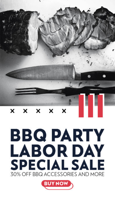 Instagram Story Creator for a Barbecue Products Store's Labor Day Offer 4322e-el1