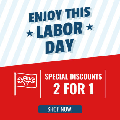 Instagram Post Generator for a Labor Day Special Sale Featuring a Bold Typeface 4318f-el1