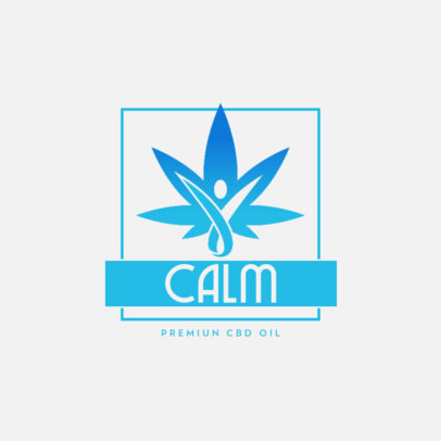CBD Brand Logo Maker with a Simple Graphic with Color-Gradient 4314e-el1