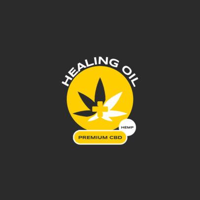 Logo Template for a Healing CBD Oil Brand 4312f-el1