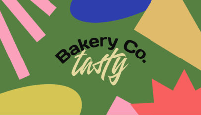 Colorful Business Card Creator for a Cool Baker 3973d