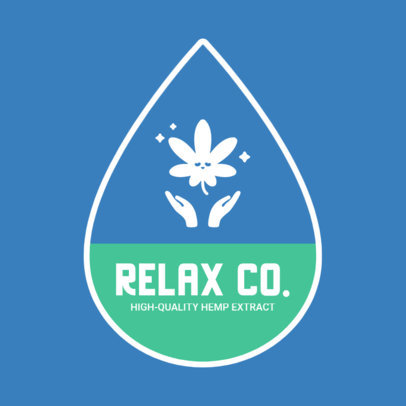 Logo Template for a Relaxing Hemp-Extract Product  4310d-el1