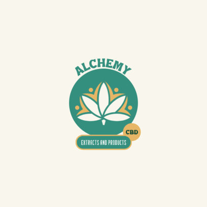 Logo Generator for a CBD Products Store with a Cannabis Leaf 4312d-el1