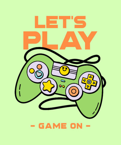 T-Shirt Design Template with a Gaming Controller Illustration 3982c