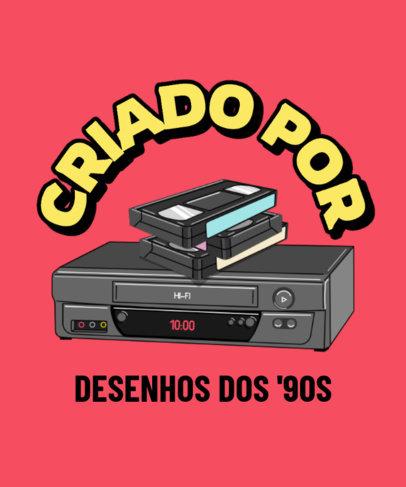 T-Shirt Design Maker Featuring a VHS Player Illustration 3940c