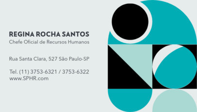 Minimal Business Card Design Maker Featuring Text in Portuguese 3974c