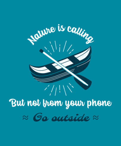 T-Shirt Design Creator with an Invitation to Enjoy Nature 3963f