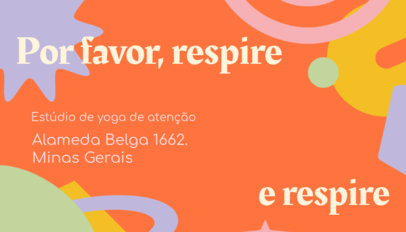 Business Card Design Generator With a Colorful Layout for a Yoga Instructor 3973a