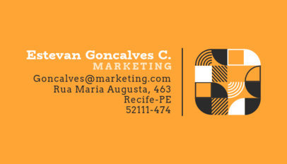 Youthful Business Card Creator for a Marketing Team 3970d