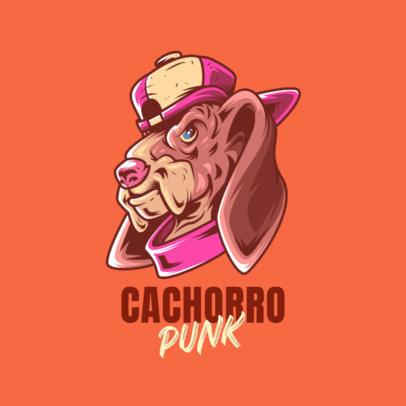 Streetwear Brand Logo Creator With a Cool Dog Illustration 4576k