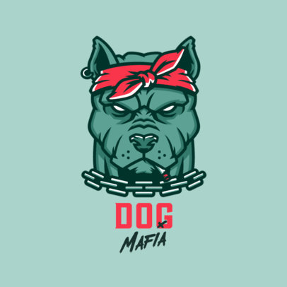 Clothing Brand Logo Maker With a Tough Pitbull Graphic 4576m