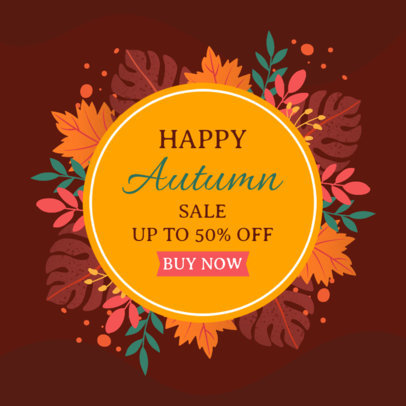 Ad Banner Maker for an Autumn Sale Featuring Leaves Graphics 3991