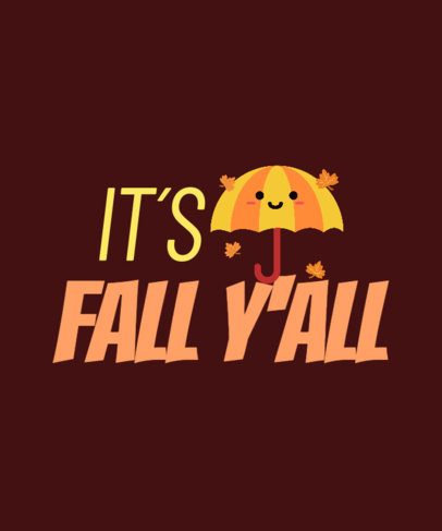 Cute T-Shirt Design Generator with a Fall Theme 3995g