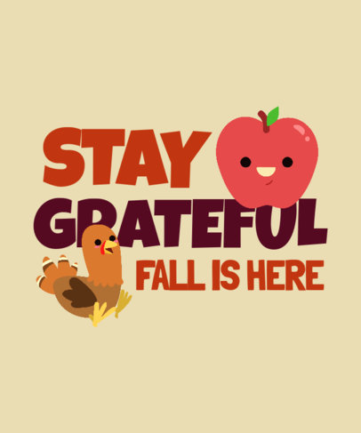 T-Shirt Design Creator with a Grateful Quote for Fall Season 3995j