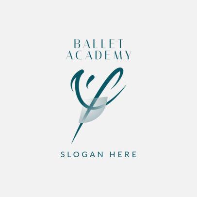 Logo Maker for a Dance Academy Featuring an Abstract Ballerina Silhouette 4608a