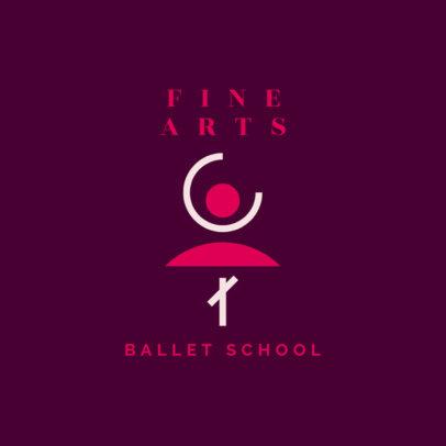 Abstract Logo Template for a Ballet School 4608b