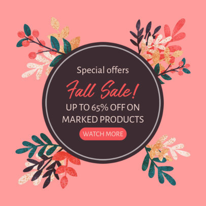 Ad Banner Maker to Announce a Special Autumn Sale 3991d