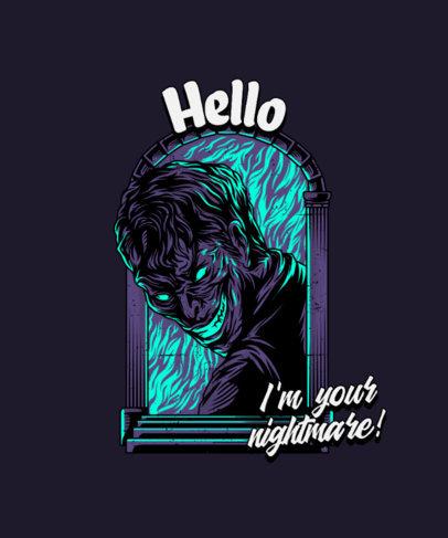 T-Shirt Design Maker Featuring an Eerie Nightmare Character 4349d-el1