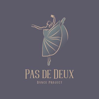 Logo Generator for a Ballet Studio With a Minimal Illustration 4606b