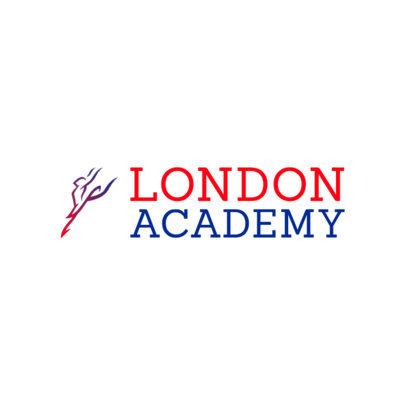 International Ballet Academy Logo Template with a Ballerina Icon 4604c