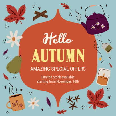 Instagram Post Design Creator for a Special Autumn Offer 3993g