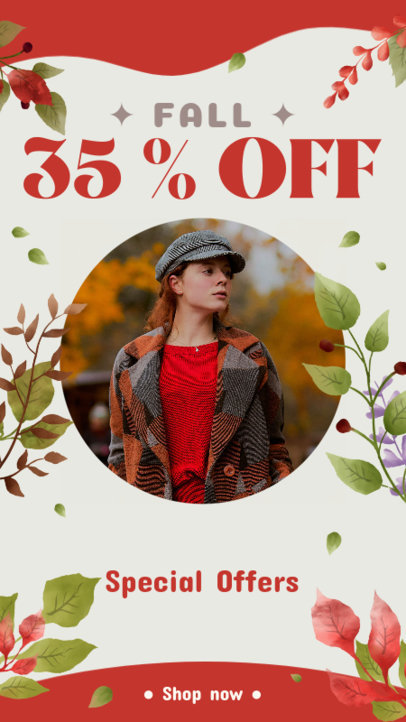 Autumn-Themed Instagram Story Generator to Announce a Fashion Sale 3992j
