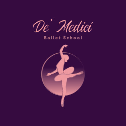 Ballet Studio Logo Maker Featuring a Minimal Aesthetic 4606e