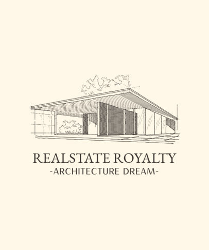T-Shirt Design Template for Architecture Aficionados 4027
