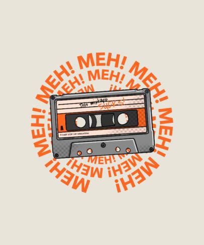Retro T-Shirt Design Creator with a Music Cassette Graphic 4370a