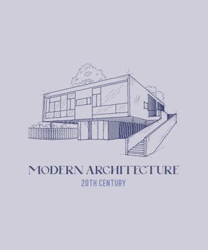 T-Shirt Design Generator Appreciating Modern Architecture 4027c
